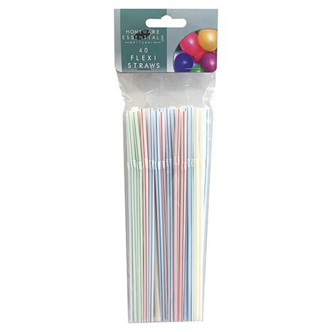 H/ess flexi straws 40 pack
