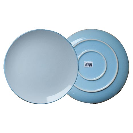 Stoneware dinner plate 3 colours 10.5""