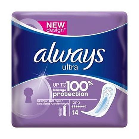 Always ultra pads 14pk - long (5% vat)