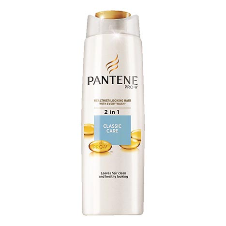 2 in 1 pantene shampoo 400ml - classic care
