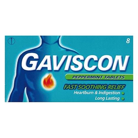 Gaviscon peppermint tablets 6's