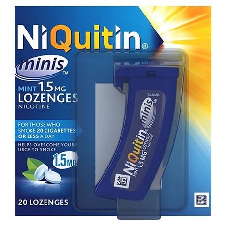 Niquitin minimint lozenges 1.5mg 20pk (5% vat)