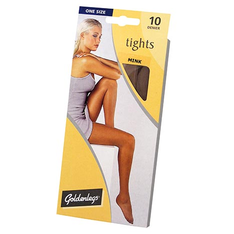 Tights sgl pk 10d one size - mink