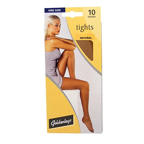 Tights sgl pk 10d one size - natural