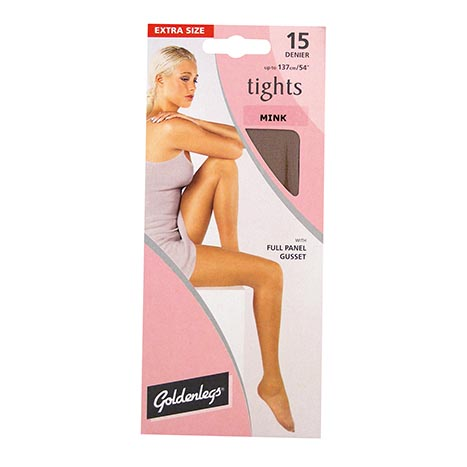 Tights sgl pk 15d ex large - mink