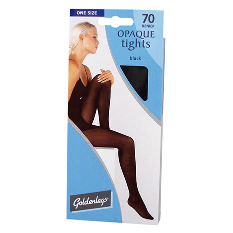 One Size Opaque Tights 70 Denier - Black