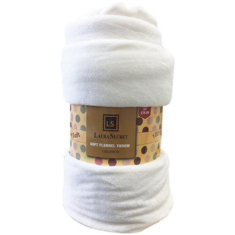 Soft flannel blanket / throw 150 x 200cm (pm £19.99)