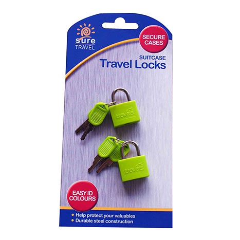 Travel case lock 2pk