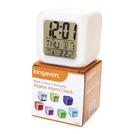 Multi colour changing digital alarm clock