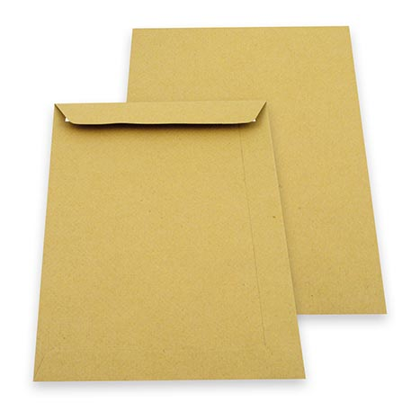 C4 Peel & Seal Manilla Envelopes (324mm x 229mm)