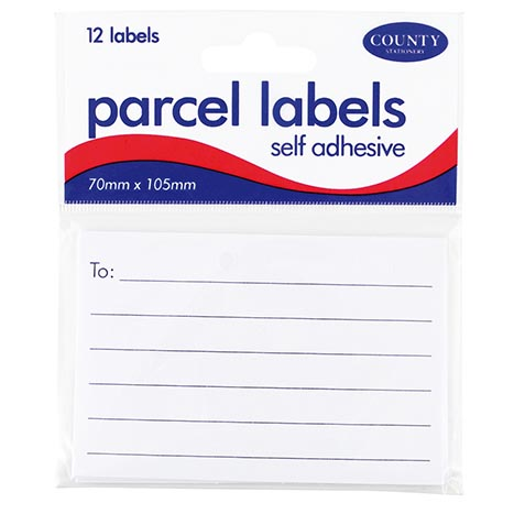 Parcel labels 12pk 70mm x 105mm - c164