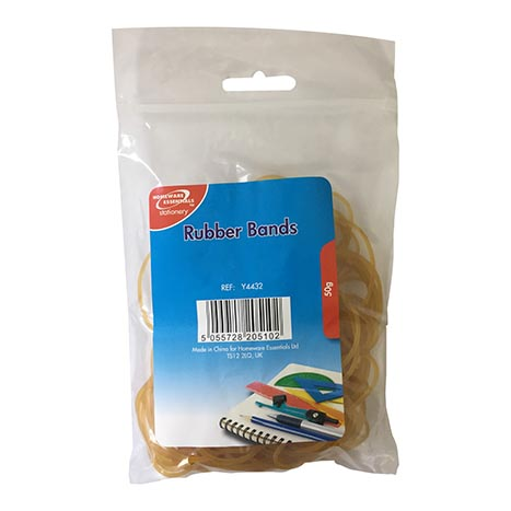 H/ess rubber bands natural 50g