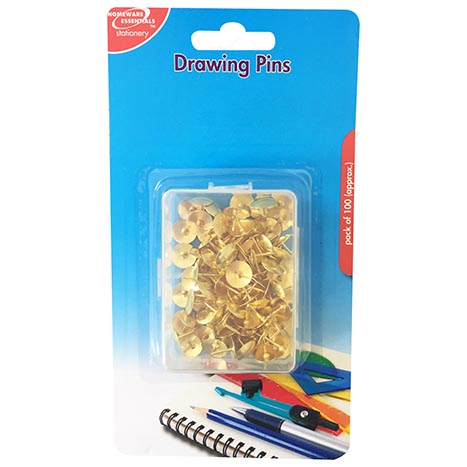 Homeware Essentials Drawing Pins 100 Pack