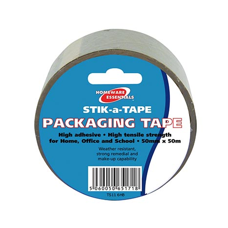 Homeware Essentials Packaging Tape 50mm x 50m