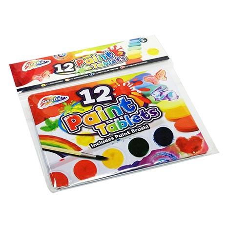 12 paint tablets ( includes paint brush)