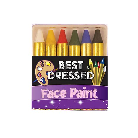 Make up face paints 6pk 5.7cm 6 colours