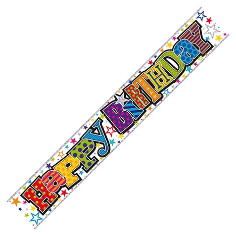 Wall banner 2.5m happy birthday - wb2001p