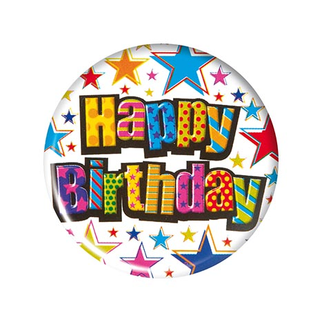 Small round badges bgr651 - happy birthday