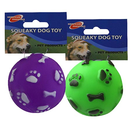 Squeaky dog toy ball