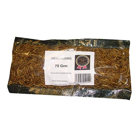 Dried meal worms 75g