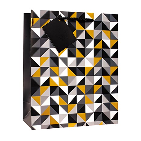 Gift bag medium 8326m (foil) male (21cm x 26cm)