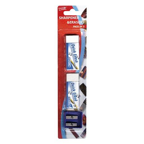(red label) sharpener & erasers