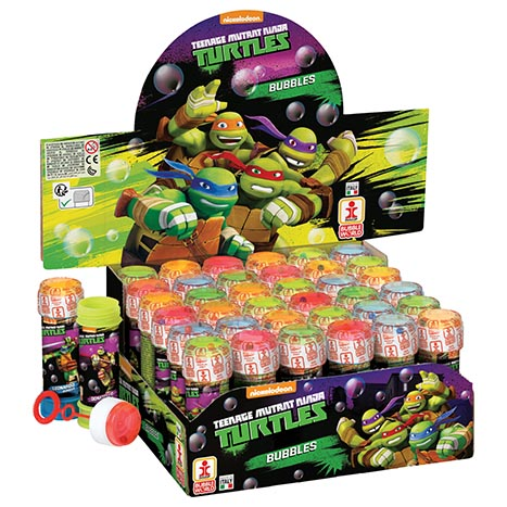 Bubbles 60ml mutant ninja turtles  (in display box)
