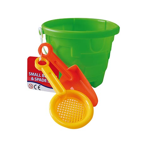Homeware Essentials Small Bucket & Spade Set - Assorted Colours