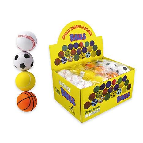 Pu sponge rubber hi-bounce ball 7cm