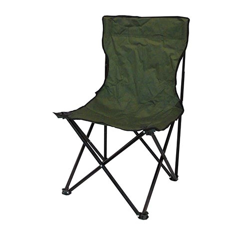 Folding camping chair no arms