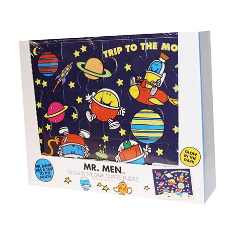 Glow in the dark 12pce puzzle - mr men