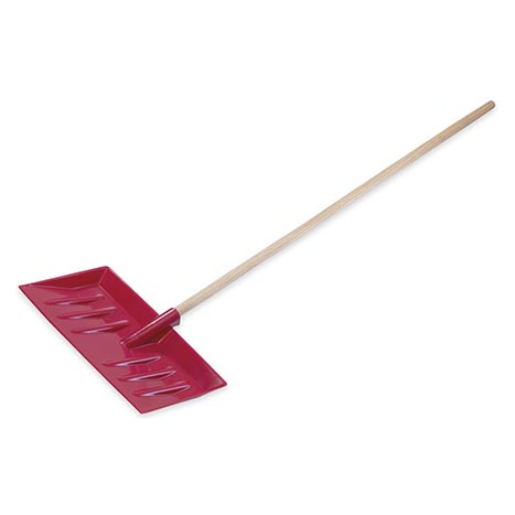 Snow scoop with wooden handle