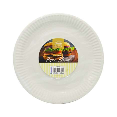 Kingfisher Catering Paper Plates 25 Pack (Diameter: 23cm)