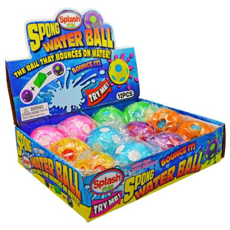 Sponge Bouncy Water Ball - Assorted Colours