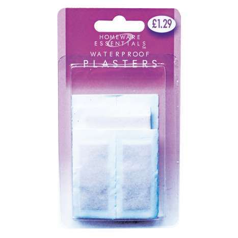Homeware Essentials Waterproof Plasters 20 Pack (HE06)