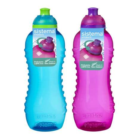 Sistema Twist & Sip Bottle 460ml - Pink/Blue