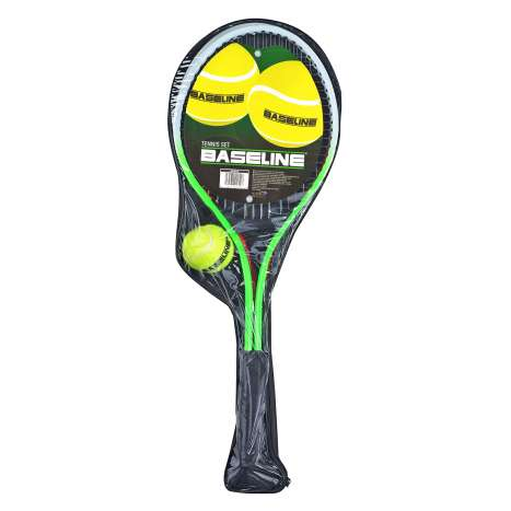 Baseline Tennis Set with Rackets, Ball & Carry Case