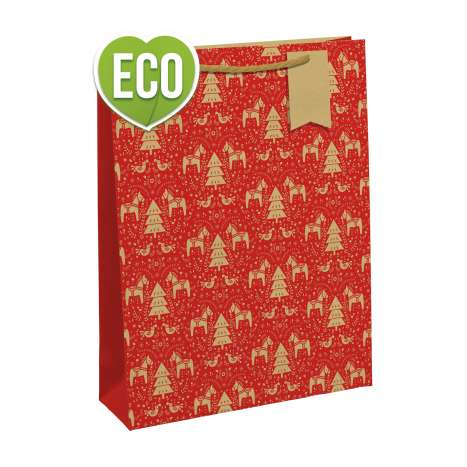 Red Kraft Gift Bag - Medium