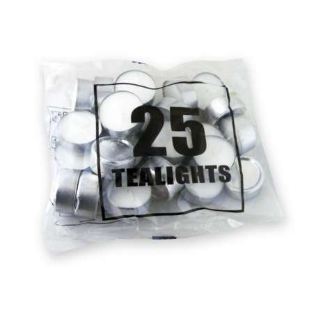 Tea-light candles 25pk - pennmoore (approx 5hrs)