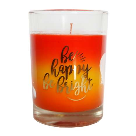 Scented glass candle - Be happy be bright 85g