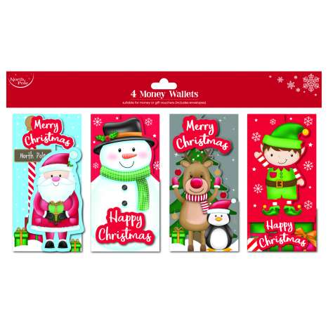 Money wallets - cute 4pk