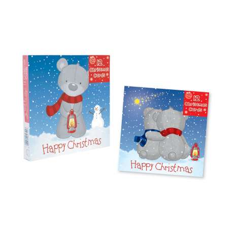 Square cards 12PK - cute
