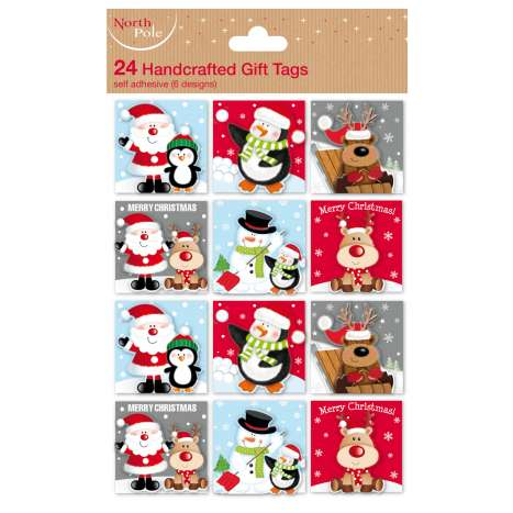 Cute Christmas tags 24PK