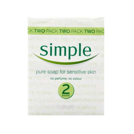 Simple soap twin pack (2x 125g)