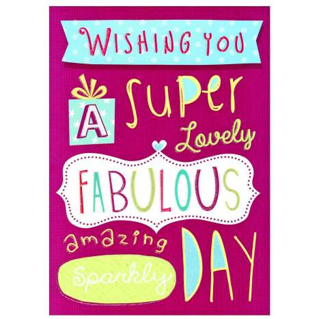 Garlanna Greeting Cards Code 50 - Fabulous Day (Purple)