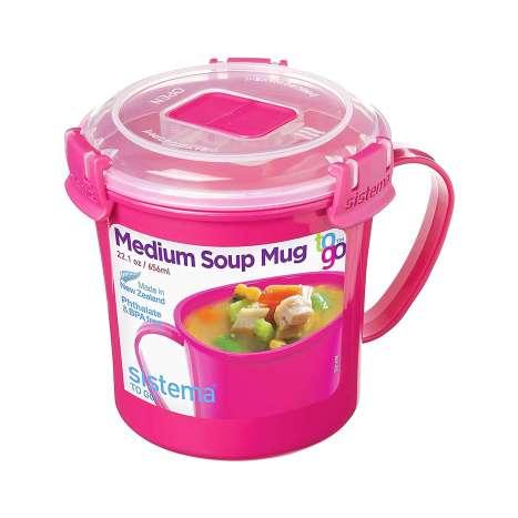 Sistema Medium Soup Mug 656ml - Pink