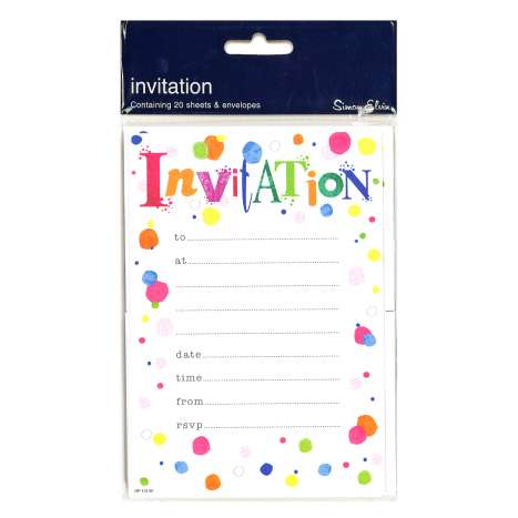 Party Invitations 20 Pack