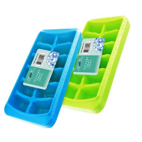 Homeware Essentials Ice Cube Tray 2 Pack - Assorted Colours