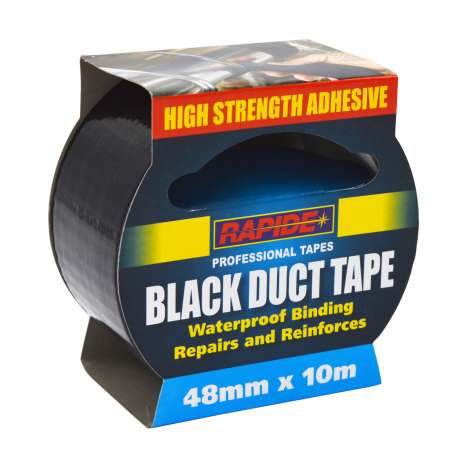 Rapide Black Duct Tape 48mm x 10m