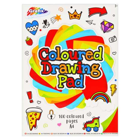 Coloured Drawing Pad - 100 Pages